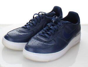 08-55  $150 Men's Size 9.5 M Nike Air Force 1 UltraForce Leather Sneaker In Blue
