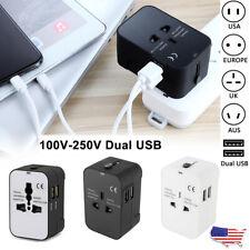 Universal Plug Adapter Global Travel 2 Usb Power Plug Converter Au Uk Us Eu