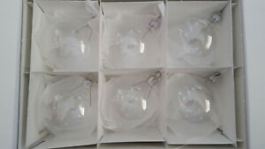 CLEAR CHRISTMAS GLASS BAUBLES 12 pcs  x 80 mm  BEST PRICE Ornament .