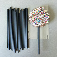 "6"" Plastic Black Cake Pop Sticks, Black Lollipop Sticks, Black Sucker Sticks"