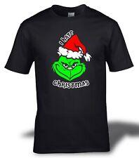 I HATE CHRISTMAS Bah Humbug Grinch Festive T Shirt S-2XL