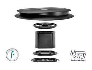 Flettner Slimline Low Profile BLACK Vent + Adaptor Wind Double Skinned Roof