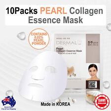 10x DERMAL Pearl Moisture Collagen Essence Facial Face Care Mask Sheet Korean