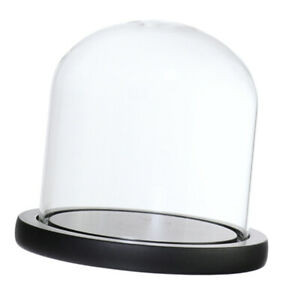 Clear Glass Dome with Wooden Base for Home Wedding Centerpiece Display Decor