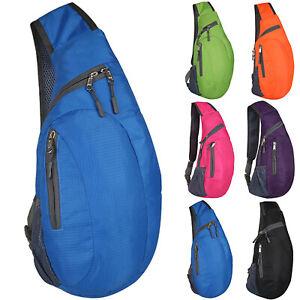 Cross body Shoulder Single Strap Bag Sling Backpack Sports Rucksack Chest Bag UK