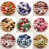 Mix of 12mm Glass Faux Pearls - pack of 30 round pearl beads - craft, jewellery