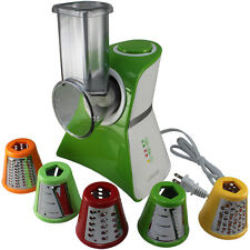 COOKS CLUB SALAD SHOOTER & MINI FOOD PROCESSOR WITH 5 BLADES GREEN & WHITE COLOR