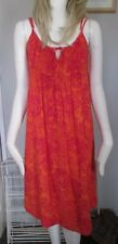 DKNY Pure-Orange, Rose Spaghetti Sangle, Plage, Robe Mini Taille 6 - 100% coton