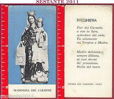 1878 SANTINO HOLY CARD MADONNA DEL CARMINE LUGO