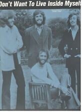 """THE BEE GEES """"DON'T WANT TO LIVE INSIDE MYSELF"""" SHEET MUSIC-EXTREMELY RARE-NEW!!"""