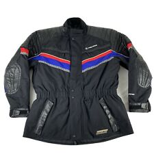 Polaris Racing Leather-Tex Thermolite Coat Jacket Womens? L Black Red & Blue