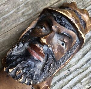 ANTIQUE HAND CARVED WOOD PAGE TURNER Marker Treen Moorish Islamic Black Forest