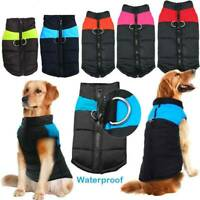 Pets Dog Waterproof Coat Padded Vest Winter Puppy Jacket Warm Clothes Apparel