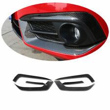 Dry Carbon Fiber Car Front Fog Light Lamp Strip Trim For Honda Civic 2016-2020
