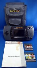 Atari Lynx II Handheld System Console w/ 2 Game Case & Instructions - Works