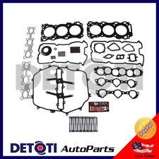 Head Gasket Set Bolts Kit Fix Cover For 03-08 Nissan Infiniti 3.5L V6 VQ35DE MLS