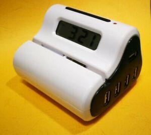 LCD Alarm Clock/Letter Opener/Four Port USB Hub