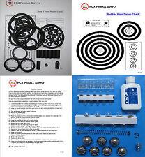 1994 Data East Guns N' Roses Pinball Tune-up Kit - Includes Rubber Ring Kit