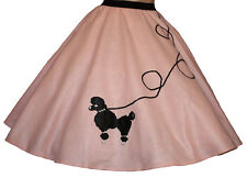 6 PC LIGHT PINK 50's POODLE SKIRT OUTFIT ADULT SZ MEDIUM Length 25""