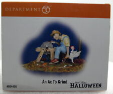 "Dept 56 Halloween Village Series ""An Axe To Grind"" Brand New"