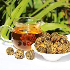 Handmade Organic Dian Hong Blooming Tea Ball Yunnan Black Tea Dragon Pea