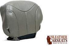 2002 GMC Yukon XL 2500 QUADRASTEER Driver Side Bottom LEATHER Seat Cover Gray