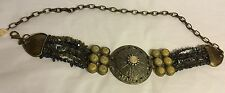 "CHICO'Beaded Jeweled Medallions Adjustable Belt Size 22-32"" , 3 1/2"" Wide"