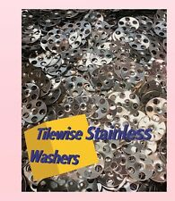 Stainless Steel Tile Backer Board Fixing Washers for wall & floor -100 Per Pack