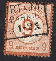 ALLEMAGNE- N°:29- 9 kreuzer - USED  - good stamp-signed by expert CV : 390 €