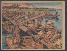 1938 Gum R69 Horrors of War #64 Japanese Engineers Build a Pontoon Bridge