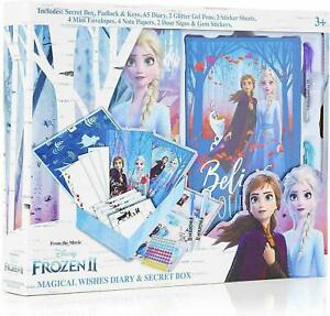DISNEY FROZEN 2 MAGICAL WISHES DIARY & SECRET BOX  WITH PRINCESS ELSA AND ANNA