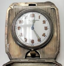 Majestic Watch Co  8 Day Sterling Silver Travel Clock Bigelow Kennard & Co As Is