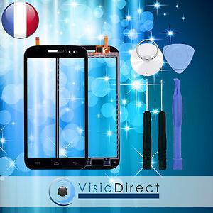 Ecran vitre tactile pour Wiko Cink five noir + stickers pré installé + outils