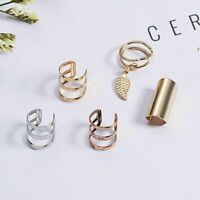 New Womens  Men Crystal Clip Ear Cuff Stud Punk Wrap Cartilage Earring Jewelry