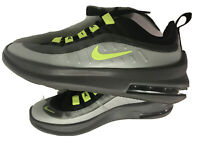 NIKE AIR MAX AXIS (GS) ATHLETIC SNEAKERS SIZE Boys 4Y NEW BLACK/VOLT/GREY New
