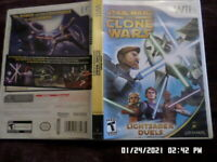 Star Wars The Clone Wars Lightsaber Duels (Nintendo Wii) w/ Case & Manual
