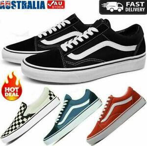 Men's Women's VAN Classic OLD SKOOL Low Top Canvas Sneakers Shoes Casual AU