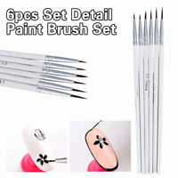 6pcs/Set  Detail Paint Brush Set Miniature Art Brushes for Fine Detailing Craft