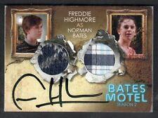 BATES MOTEL SEASON 2 Breygent AUTOGRAPH DUAL COSTUME CARD #DCFH FREDDIE HIGHMORE