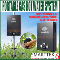 Smarttek 6 Instant Gas Portable Hot Water Heater Camping Shower System Pet Wash