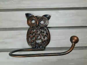 Iron Toilet Paper Holder, Owl Bathroom decor, Nature, TP Holder, Bird Kids Bath