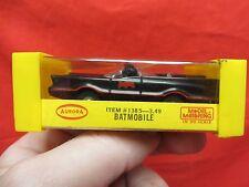 AURORA VINTAGE BATMOBILE  #1385 HO T-JET SLOT CAR WITH BOX/INSERT