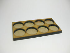 Warhammer, LOTR, wooden movement tray, 8 figures, 28mm miniature base