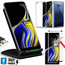 For Galaxy S8 / NOTE 8 |Note 9 QI Wireless Charger+ Case+Screen Protector Bundle