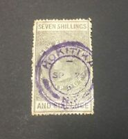 1913 7 Shilling and 6 Pence New Zealand Stamp Duty SG F105 - RARE STAMP - Used