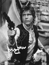 HARRISON FORD Ian Solo Star Wars print signed photo - foto +  autografo stampato