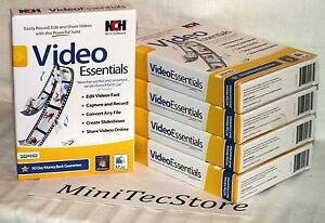 NCH Software Video Essentials Suite Win Mac 3D HD New Sealed