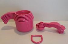 Tupperware Measure Measuring Cups & Spoons Set 2016 Design Pink New