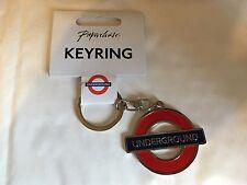 London Underground train logo Metal key ring key chain hanger