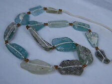 "Ancient Roman Glass Fragments Beads Strand C.200 Bc No Reserve Auction """"K722""&#0 34;"